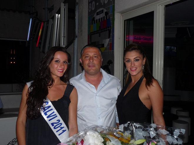 Miss Calvi avec Didier Bicchieray et Jessica Urbani