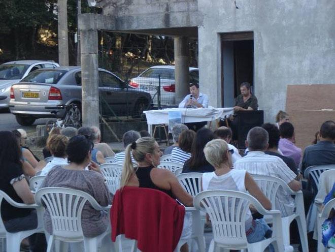 Les animateurs de cette conférence très suivie, Antoine-Marie Graziani et Pierre Alessandrini