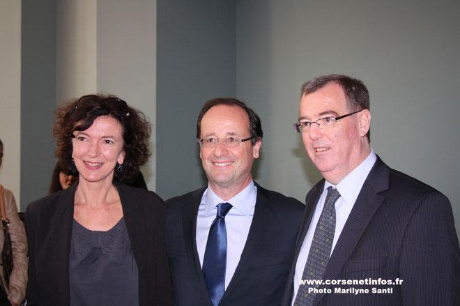 Paul-Marie Bartoli et sa suppléante  Valérie Tomii : le soutien de François Hollande
