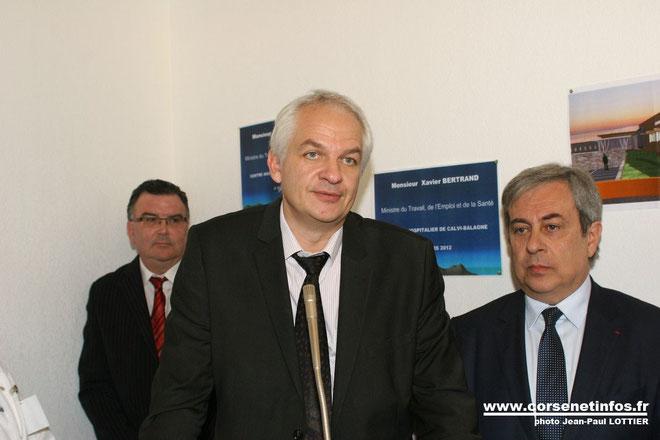Jean-Jacques Coiplet lors de l'inauguration du centre hospitalieer de Calvi-Balagne