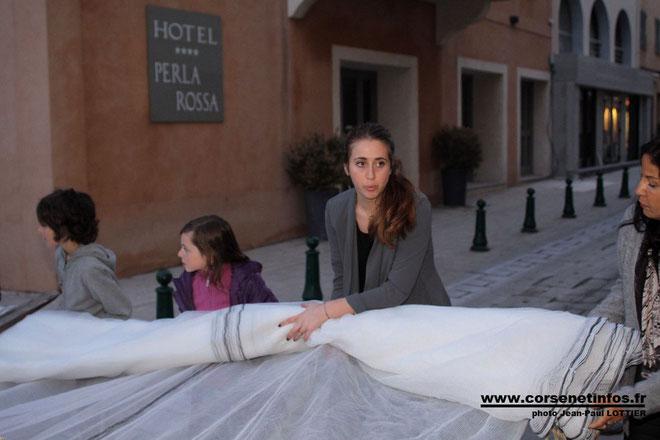 Laurie Guidoni à l'heure des préparatifs