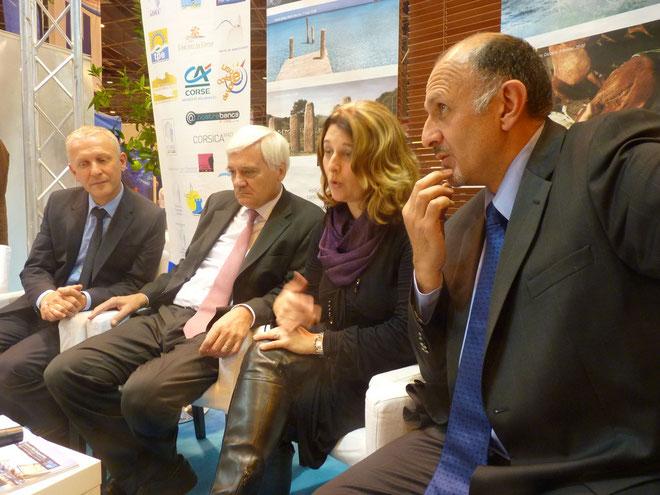 Pierre Torre, Georges Revolier, Vanina Pieri et Jean-Pierre Barbolosi