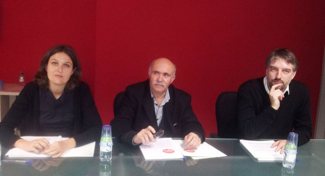 Pascale Simoni, Francis Giudici et Sébastien Simoni. (Photo M.S)