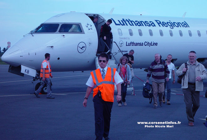 Le vol inaugural Munich-Bastia a atterri à l'aéroport de Bastia-Poretta à 16h15 avec 50 passagers à son bord