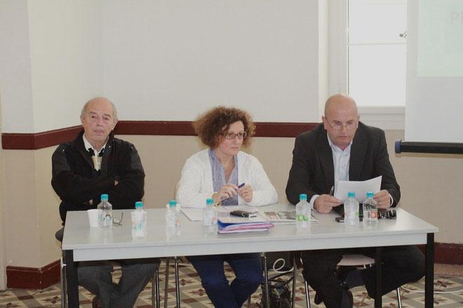 Marie Guidicelli entourée de Domi Taddei et Attilius Ceccaldi