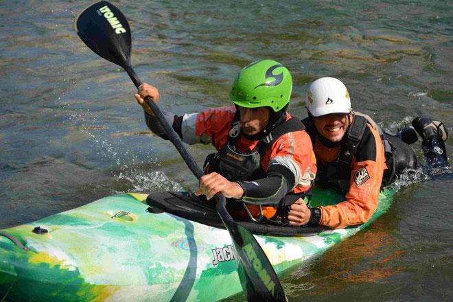 Recupero con il Kayak - prova pratica Kayak Rescue Basic R.W.W.®