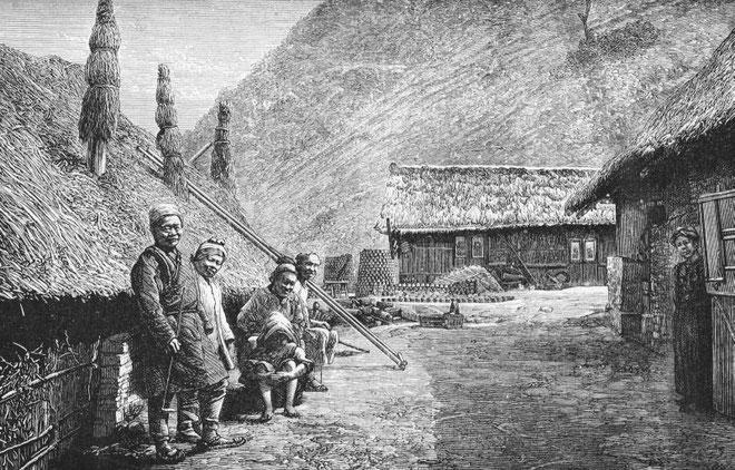 Village minier, dans la province de Hunan.