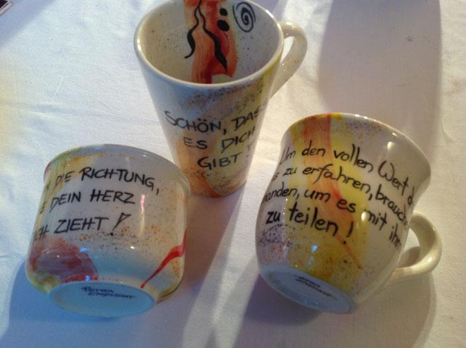 NEU!! Tassen- Kaffeetasse, Teetasse, Espressotasse.... in jeder gewünschten Farbe mit individuellem Spruch! Ein besonderes, persönliches Geschenk für jeden Anlass, kann ich auch gerne mit Ihrem Namen beschreiben!