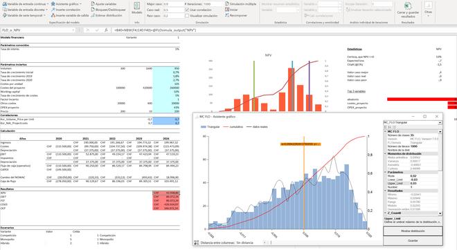 MC FLO - Qué es una simulación? MC FLO Monte Carlo simulación Excel