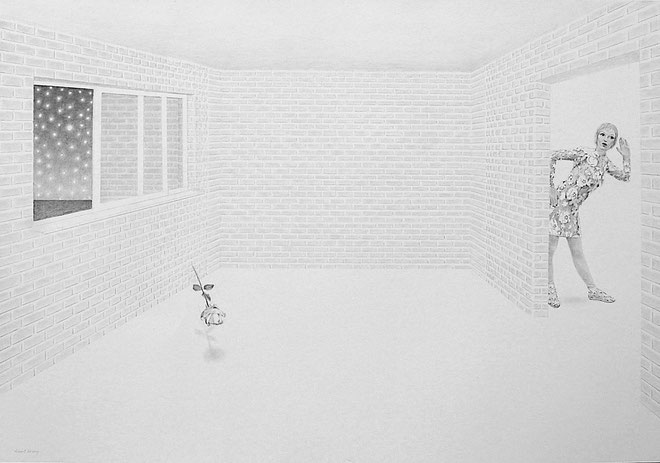 """Strange Night"" Pencil on paper. 70x100 cm *2017"