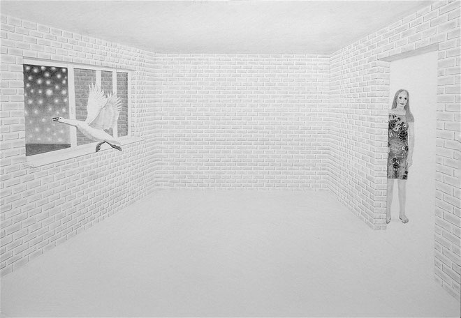 "''White Night"" Pencil on paper. 70x100 cm *2015"