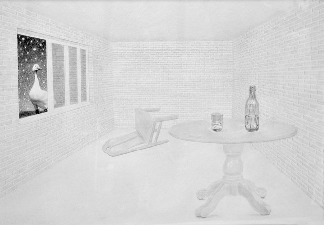 ''Happening''  Pencil on paper. 70x100 cm *2014