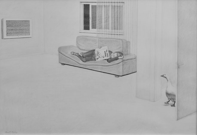 ''White Goose'' Pencil on paper. 70x100 cm. *2010