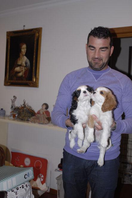 Eva e Archie con Francesco