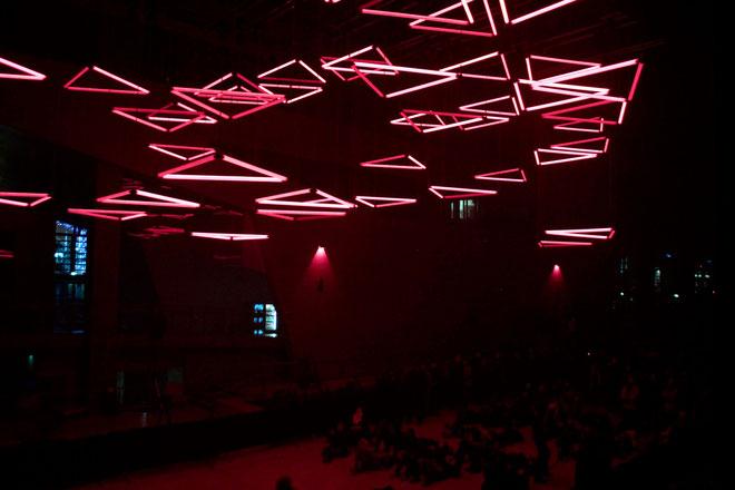 Grid de Christopher Bauder à l'Hôtel de Région - Fête des Lumières - Lyon - Déc 2013 - Photos © Anik COUBLE