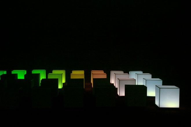 40 Hexaèdres - Fête des Lumières - Lyon - Déc 2013 - Photos © Anik COUBLE