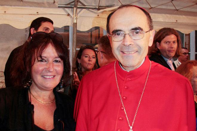 Cardinal Philippe BARBARIN, Archevêque de Lyon et Anik COUBLE - Photo ©  Pascale Millet