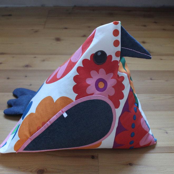 Schräger Vogel - Kissen