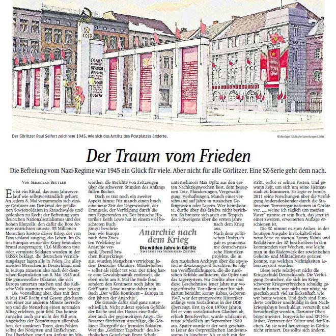 Leitartikel vom 3.5.2016 zur Artikelserie in der Sächsischen Zeitung/Görlitz zum Besatzungsterror in den Nachkriegsjahren