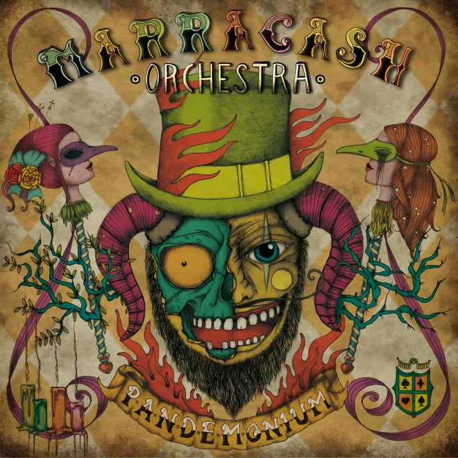 albumcover * illustration & design by visob * 2012 | MARRACASH ORCHESTRA || Album Pandemonium