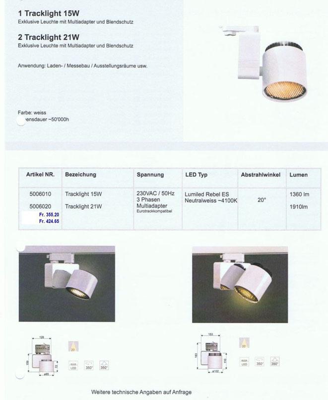 LED Tracklight 15 W, 21 W