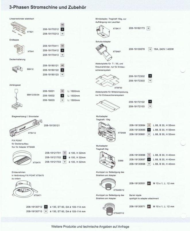 3-Phasen Stromschine und Zubehör