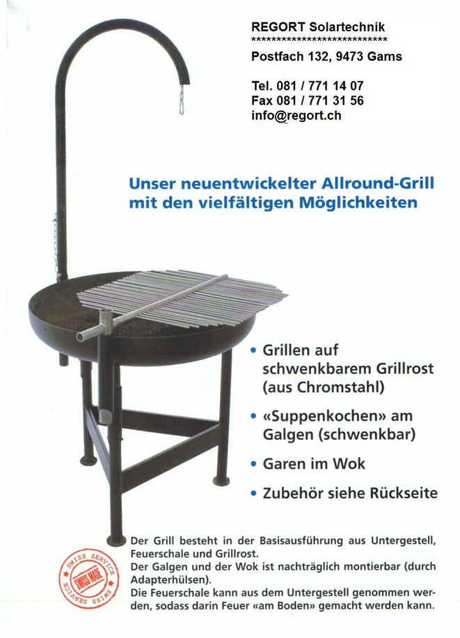 Allround Grill von Frei, Stahlbau