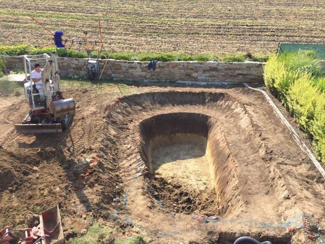 Teich ausgraben