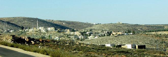 Palæstinensisk landsby Jaloud på Vestbredden nær Nablus