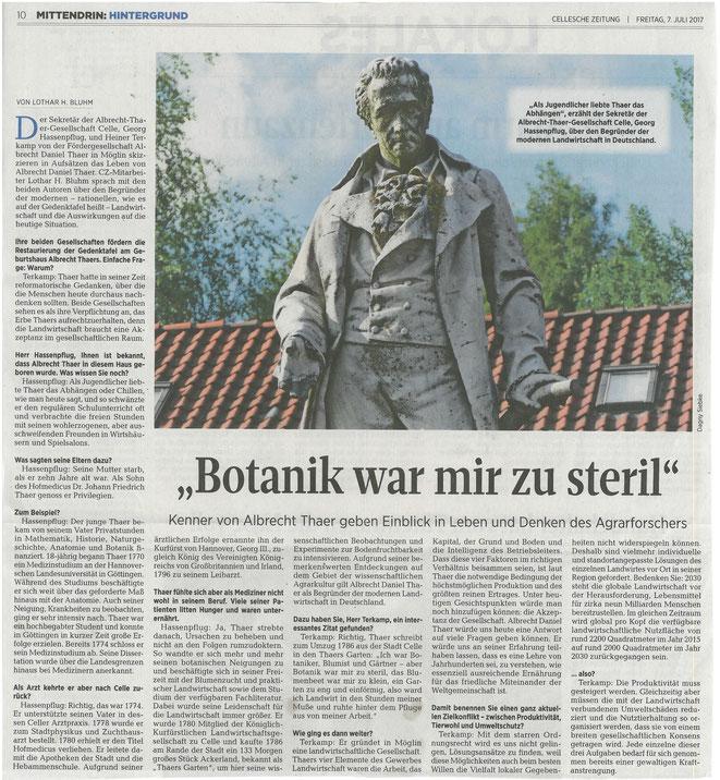 Cellesche Zeitung, 07.07.17, Seite 10