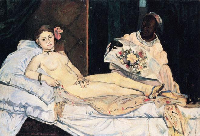 ゴーギャンによる「オリンピア」の複製作品(1891年)