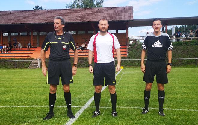 v.l.: Wolfgang Fitzinger, Dieter Madlberger, Matthias Jony (Gr. Gerungs gg. St. Martin)