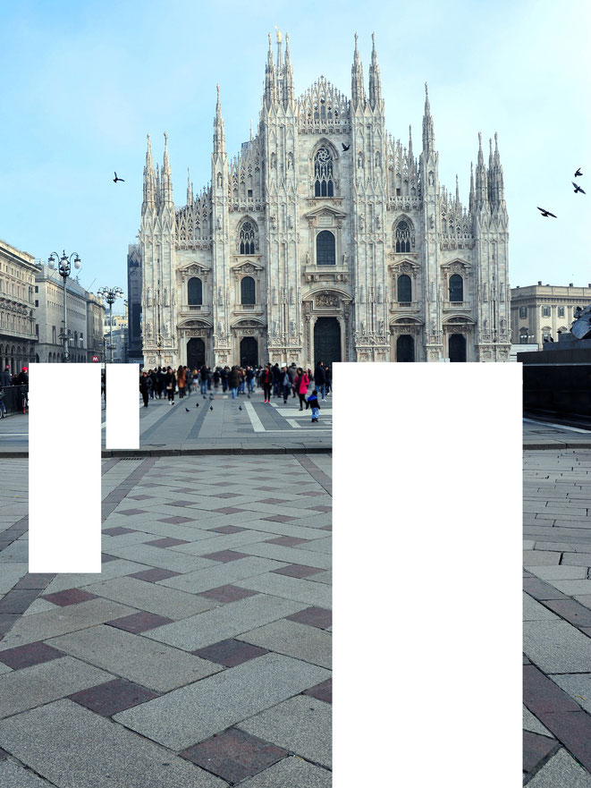 naked MILAN - censored | 2018 - Aludibond - Edition of 3 ::: 60x80cm | 987,00€
