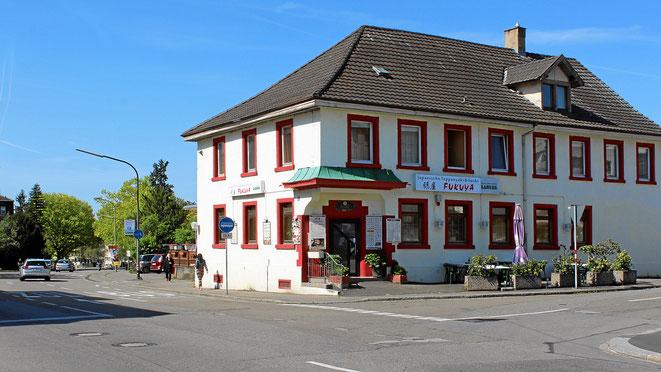 In Lörrach-Stetten beim Hotel Asia. Nahe der Grenzübergang zur Schweiz bei Riehen-Basel