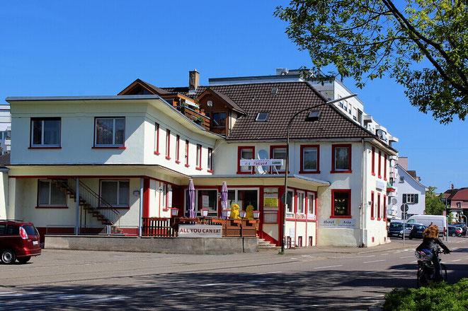 Hotel Asia und das japanische Restaurant Fukuya in Lörrach im Dreiländereck
