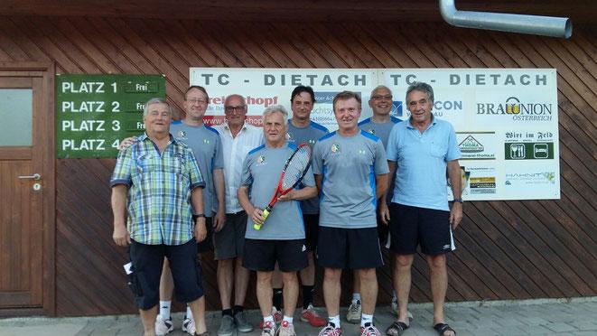 von Links: Johann Fürtbauer, Helmut Bader, Heinz Kreindl, Rudolf Krenn, Harald Rosenberger, Klaus Angerer, Johann Mayr, Raimund Kastner
