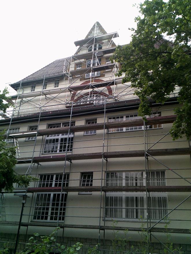 Bielefeld Gutenbergschule, hier Weitspannträgerkonstruktion. Spannweite 20,00 m.