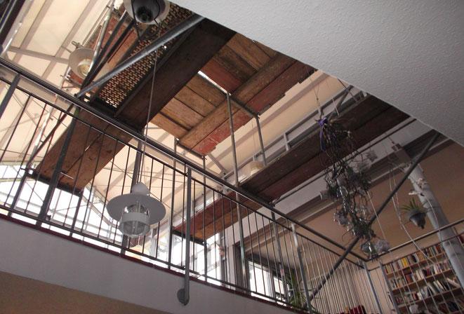 Einrüstung eines Treppenhauskopfes