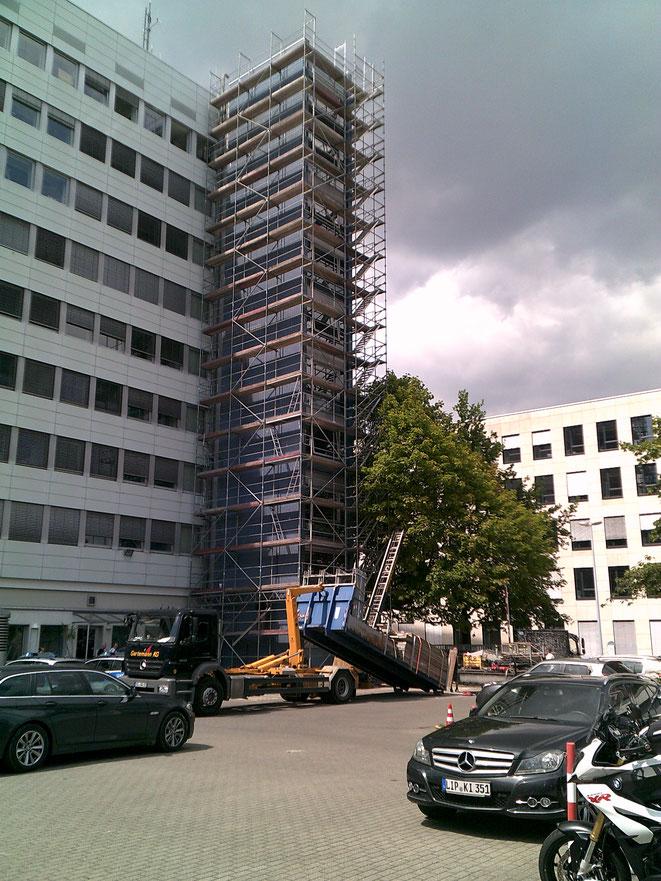 Bielefeld. Polizeipräsidium Fassadenarbeiten.
