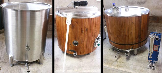 Cuve eau chaude cuve ébullition cuve empâtage salle de brassage échangeur à plaques fourquet Roanne