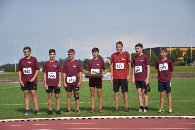 Der wohlverdiente Siegerpreis für die LZO-Boys in der Kategorie U14 m.