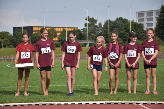 Das LZO-Mädchenteam als Siegerinnen in der jüngsten Kategorie U12 w.