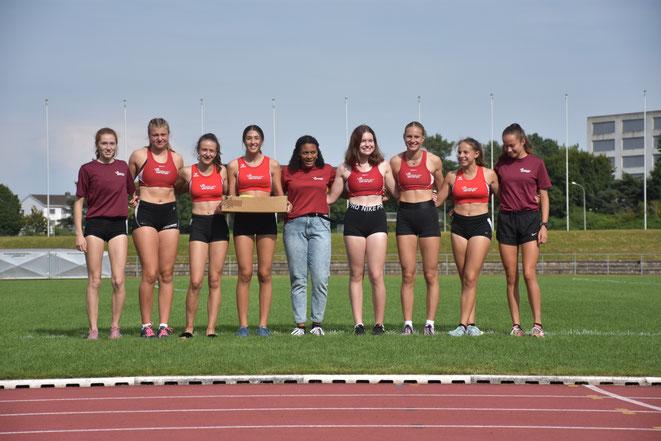 Bei den Mädchen U18 totalisierten die LZO-Girls ein in der Schweiz noch nie    erreichtes Team-Resultat.