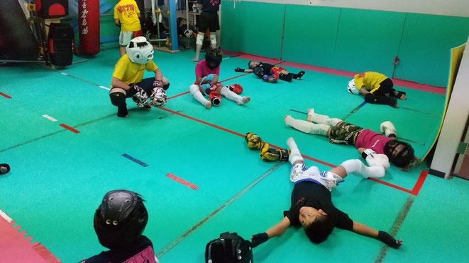 teamYAMATO大和高田本部でのキックボクシングの練習。疲れてます。