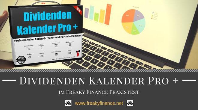 Der Dividenden Kalender Pro + im Investoren-Härtetest. Ein Praxistest von freaky finance Mehr Spaß, deine Finanzen endlich selbst in die Hand zu nehmen!   Selbstständiger Vermögensaufbau mit dem Ziel der finanziellen Freiheit.