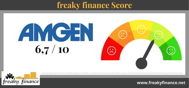 freaky finance, Score, Amgen, Aktien Score, Tachonadel, Tachometer, Bewertung