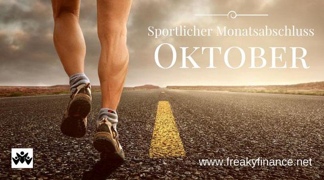 freaky finance, freaky routine, Monatsabschluss, Oktober 2017, sportlicher Monatsabschluss, Horizont, Straße, Läufer,Beine eines Läufers auf einer Straße , die bis zum Horizont geht