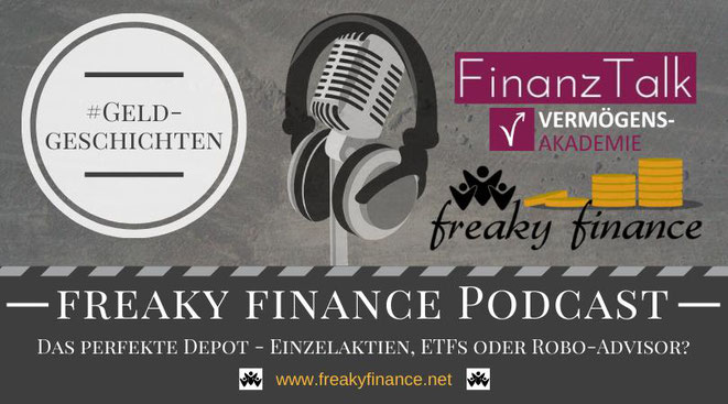 freaky finance, Podcast, FinanzTalk, Asset-Allocation, Vermögensallokation, Vermögensmix, Depot, ETF, Einzelaktien, Robo-Advisor