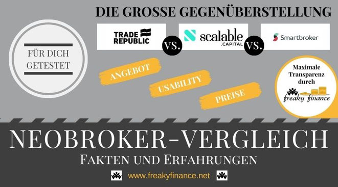 freaky finance, Neobroker-Vergleich, Smartbroker, Trade Republic, Scalable Capital Broker, FAQ Neobroker, Brokerwahl, Fragen