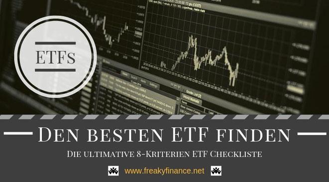 Die ultimative ETF Checkliste, die dir bei der Wahl des passenden Indexfonds an der Börse helfen wird. Erfolgreicher Vermögensaufbau in Eigenregie @ freaky finance